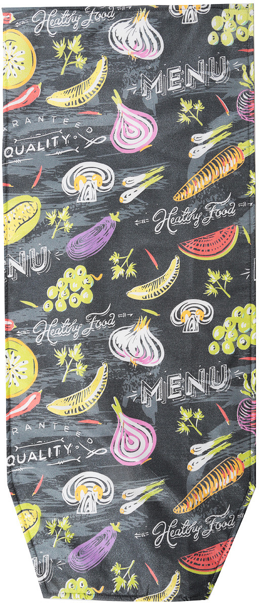 Чехол для гладильной доски Nika Menu, ЧПА3, серый чехол для гладильной доски paterra цветы с поролоном цвет белый синий 146 х 55 см