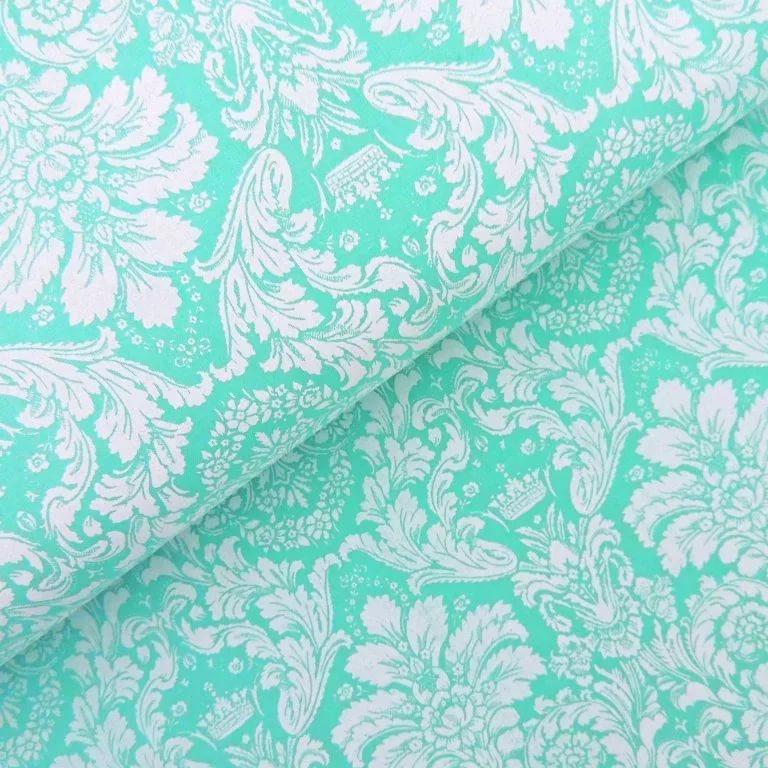 Ткань Vebertex Дамаск мятный ткань vebertex дамаск мятный