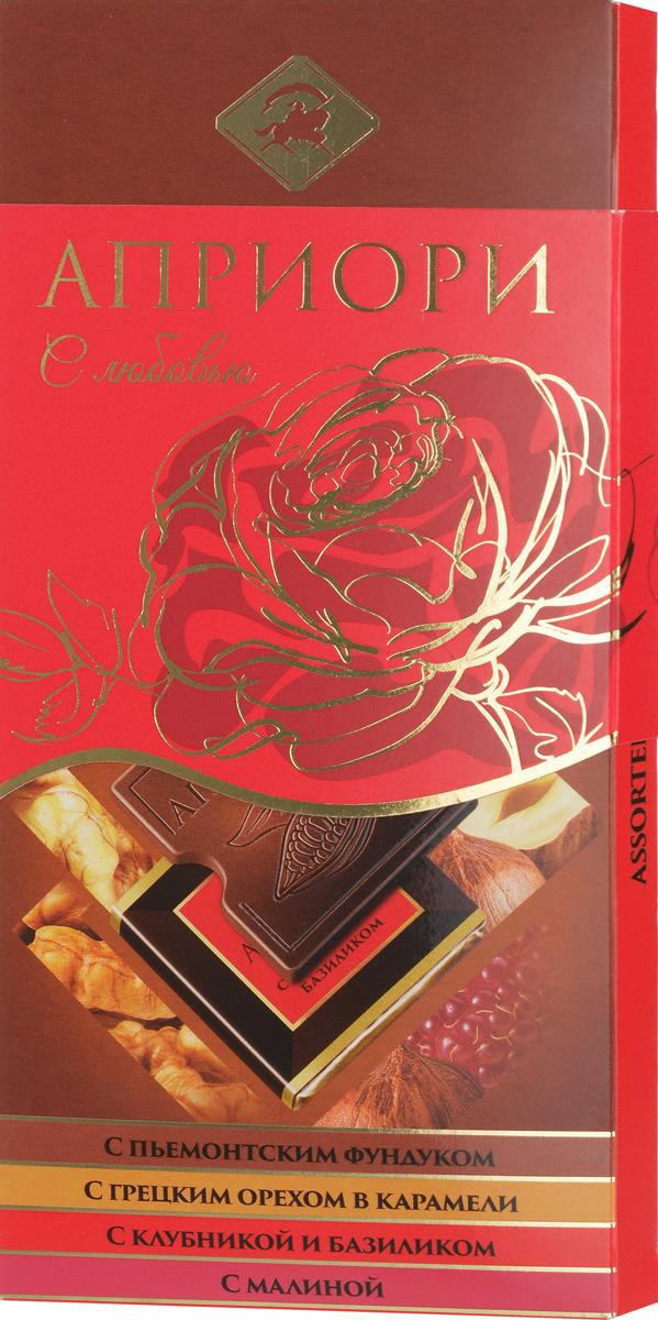 Молочный шоколад Априори, вид 3, ассорти, 100 г априори горький шоколад 99