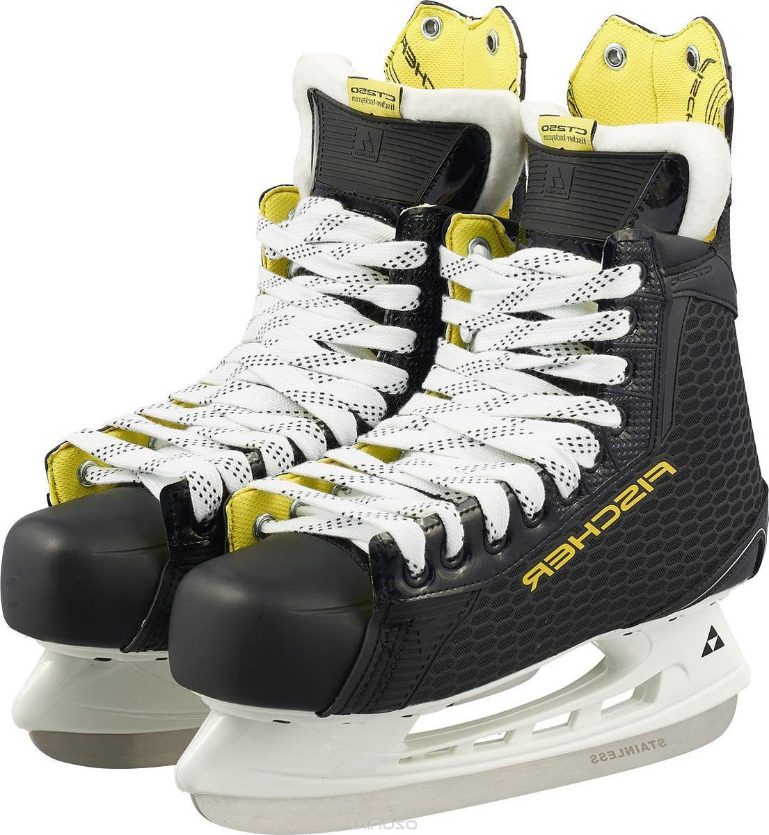 Коньки хоккейные мужские Fischer CT250 SR, цвет: черный. H04017. Размер 39 коньки хоккейные мужские bauer supreme s150 цвет черный 1048623 размер 47