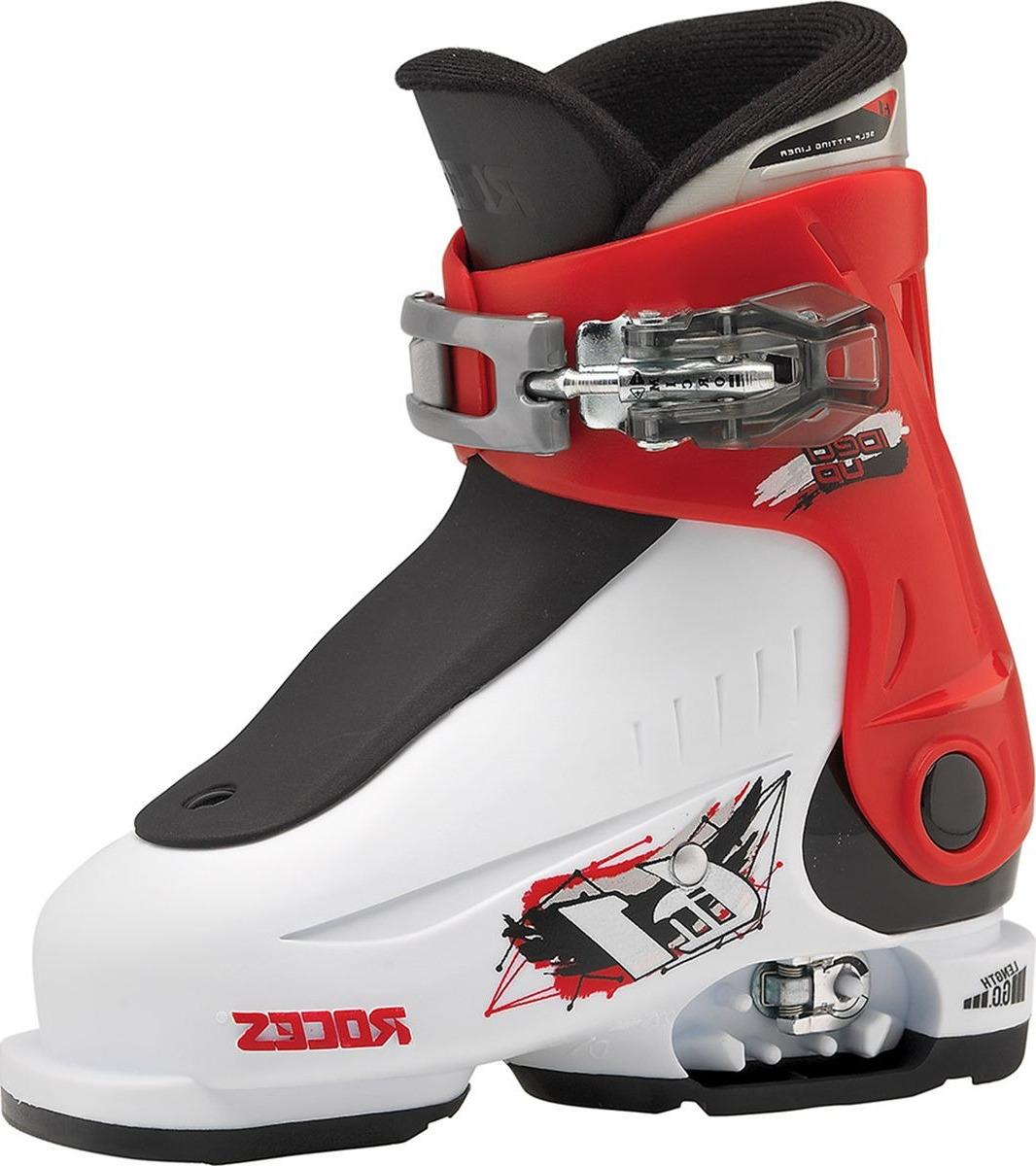 Ботинки горнолыжные для мальчика Roces IDEA, цвет: белый, красный. 450490. Размер 16/18.5