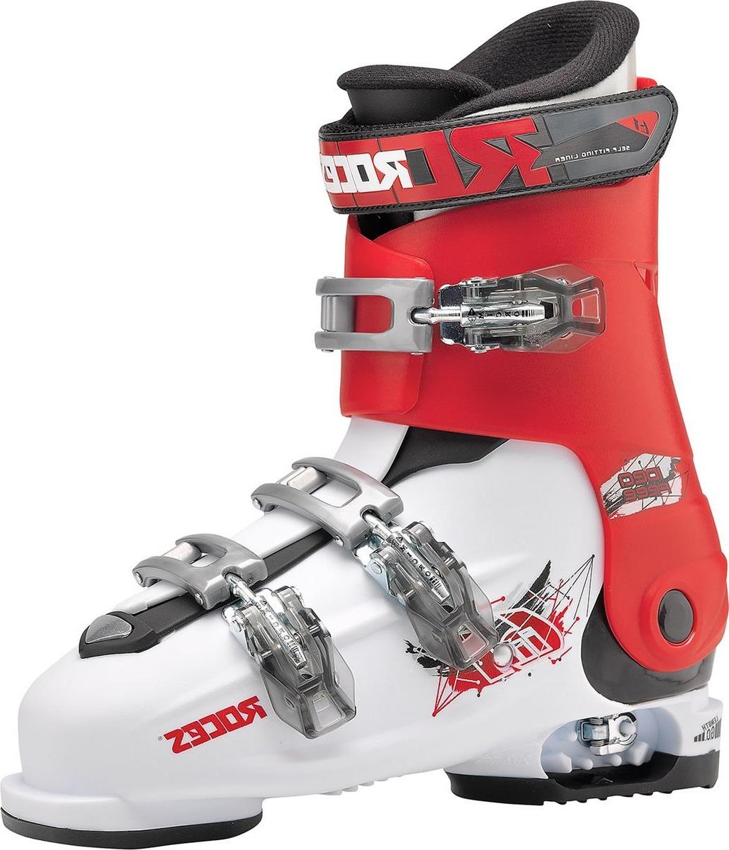 Ботинки горнолыжные для мальчика Roces IDEA, цвет: белый, красный. 450492. Размер 22.5/25.5