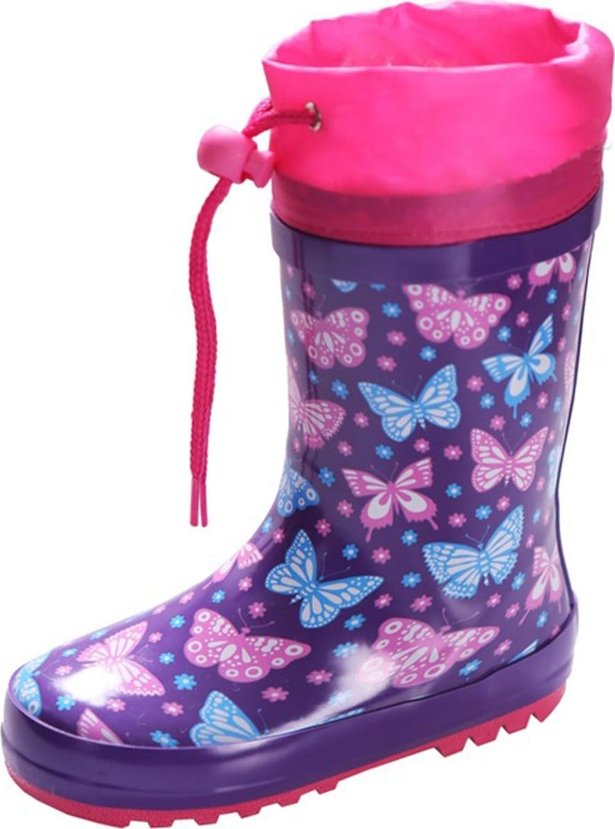 Резиновые сапоги для девочки Tom&Miki, цвет: фиолетовый. B-1763. Размер 26B-1763