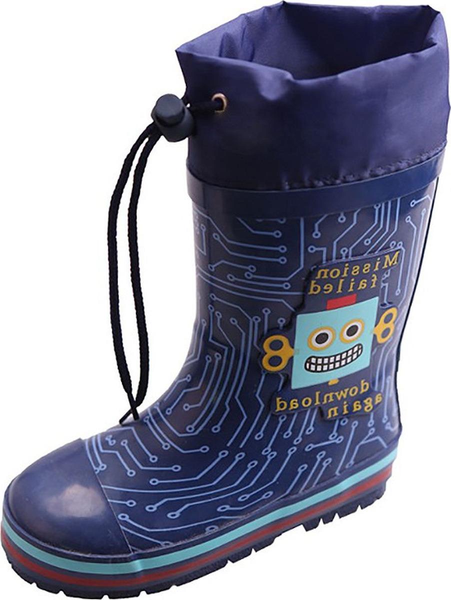 Резиновые сапоги для мальчика Tom&Miki, цвет: темно-синий. B-3289. Размер 23B-3289
