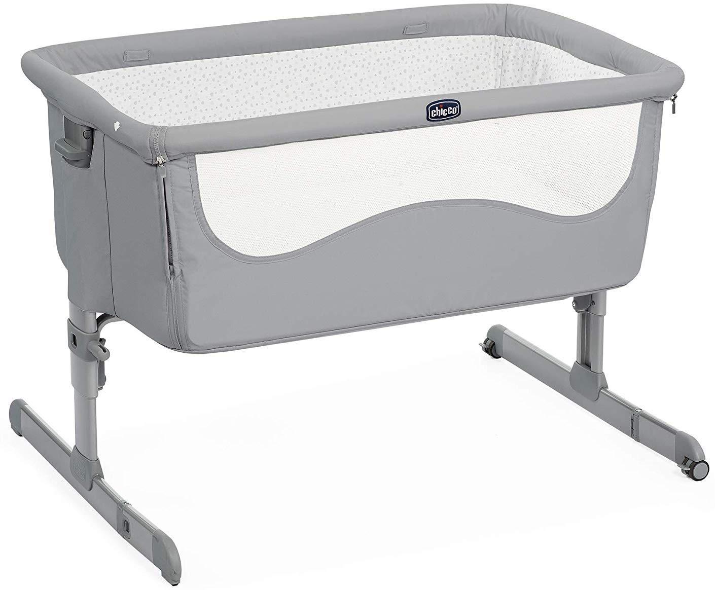 Манеж-кроватка Chicco Next2Me серый