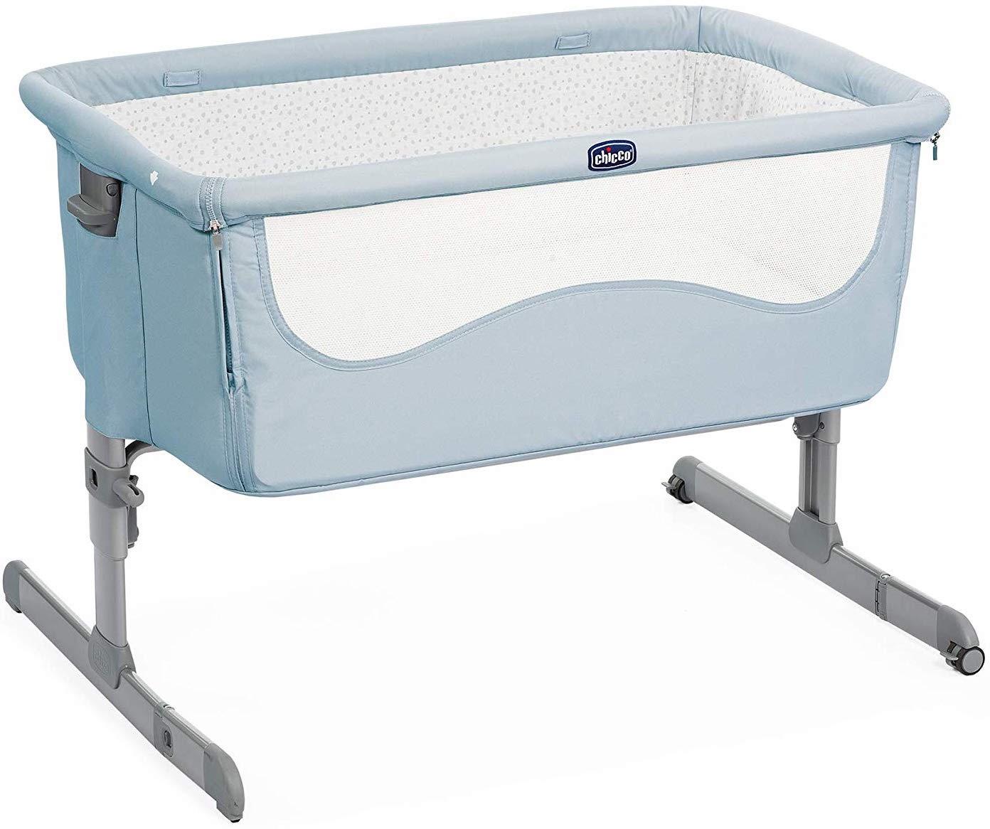 Манеж-кроватка Chicco Next2Me голубой
