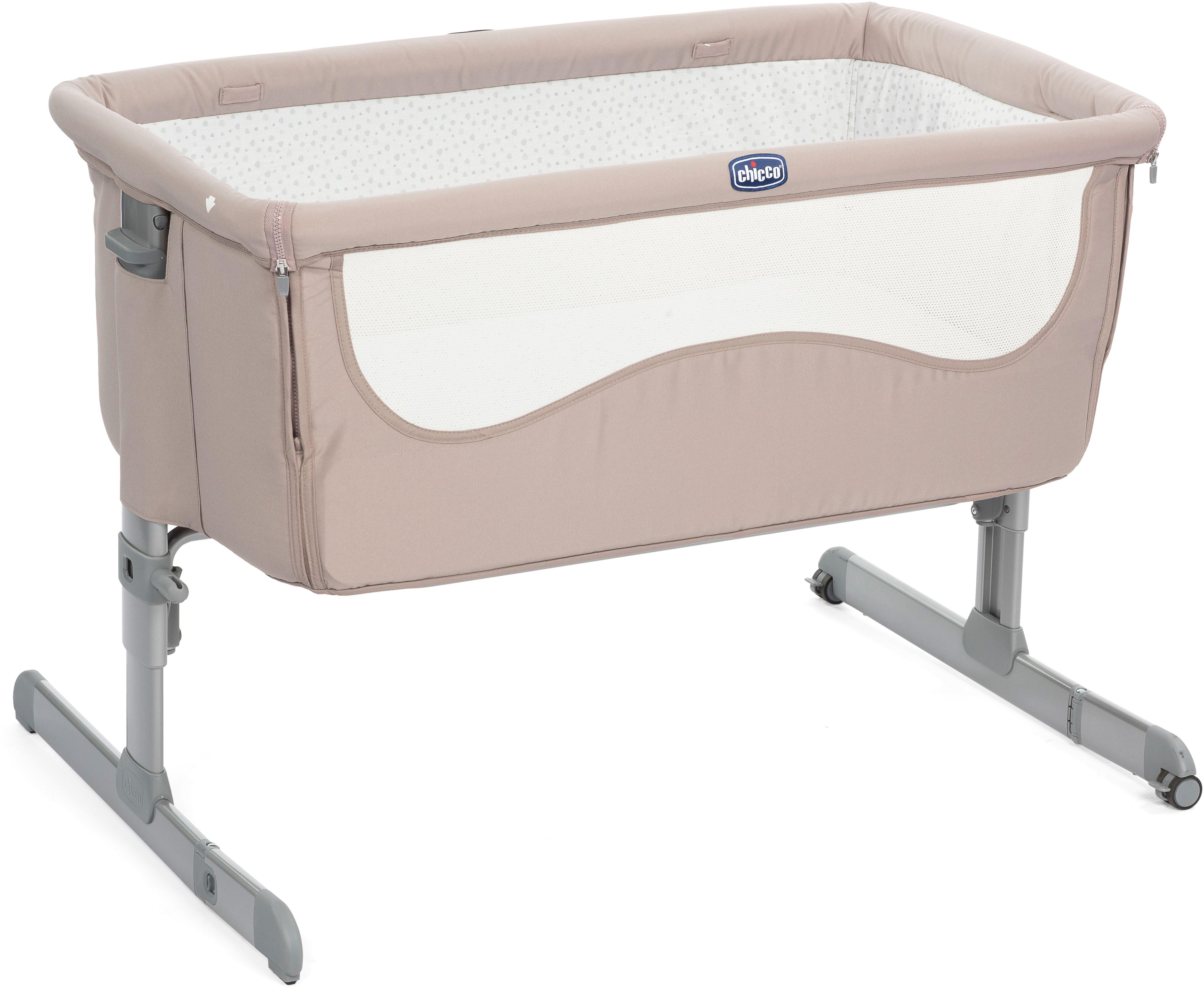 Манеж-кроватка Chicco Next2Me светло-розовый