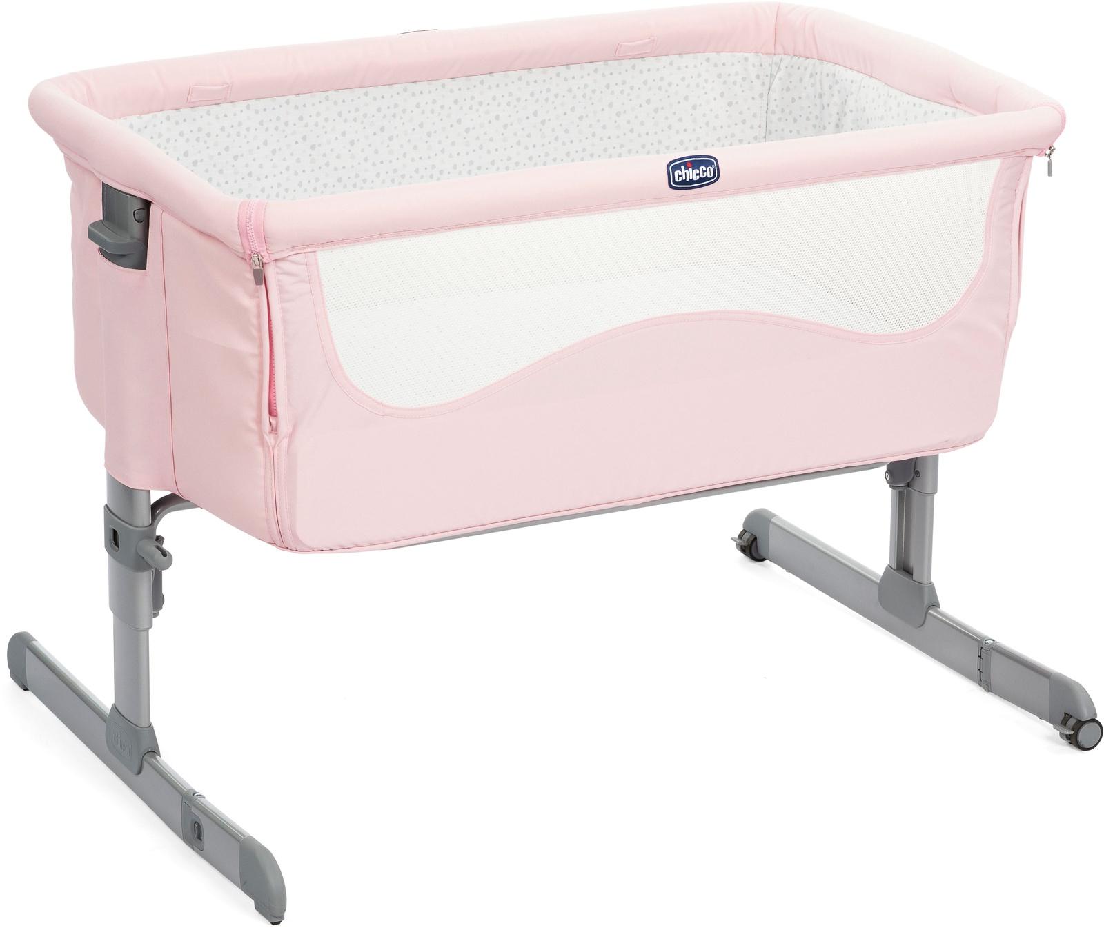 Манеж-кроватка Chicco Next2Me розовый