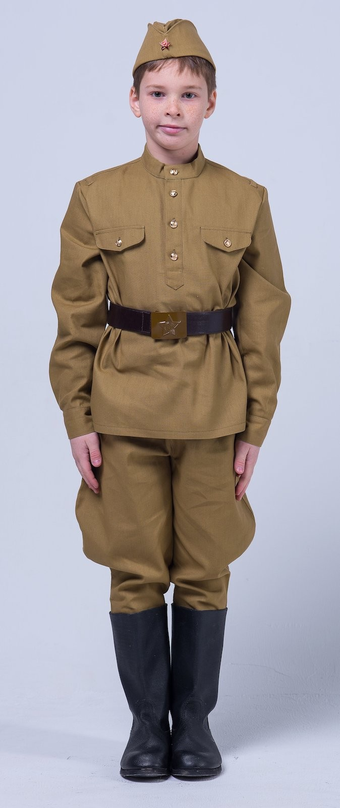 Карнавальный костюм Сын полка Эконом-комплект детской военной формы для мальчика, хаки а прокофьев бессмертное сердце солдата