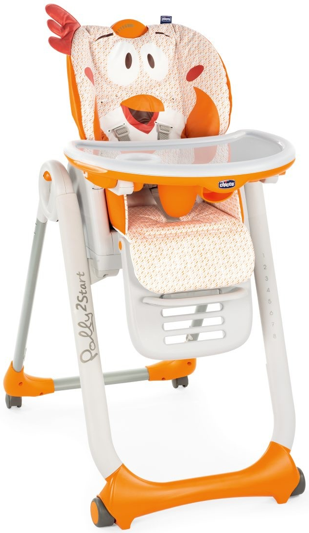 Стульчик для кормления Chicco Polly 2Start оранжевый все цены