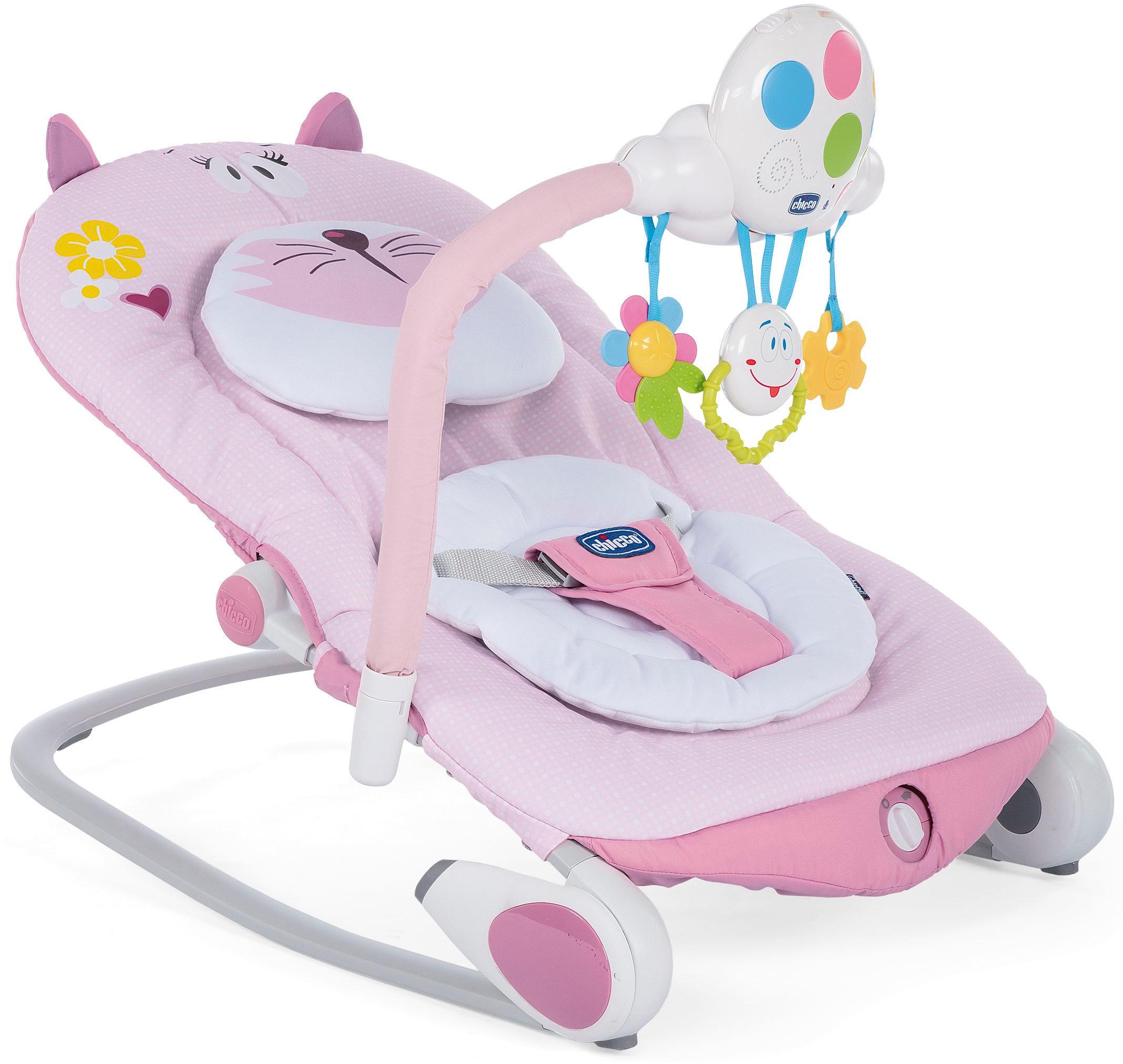 Шезлонг для новорожденных Chicco Balloon розовый