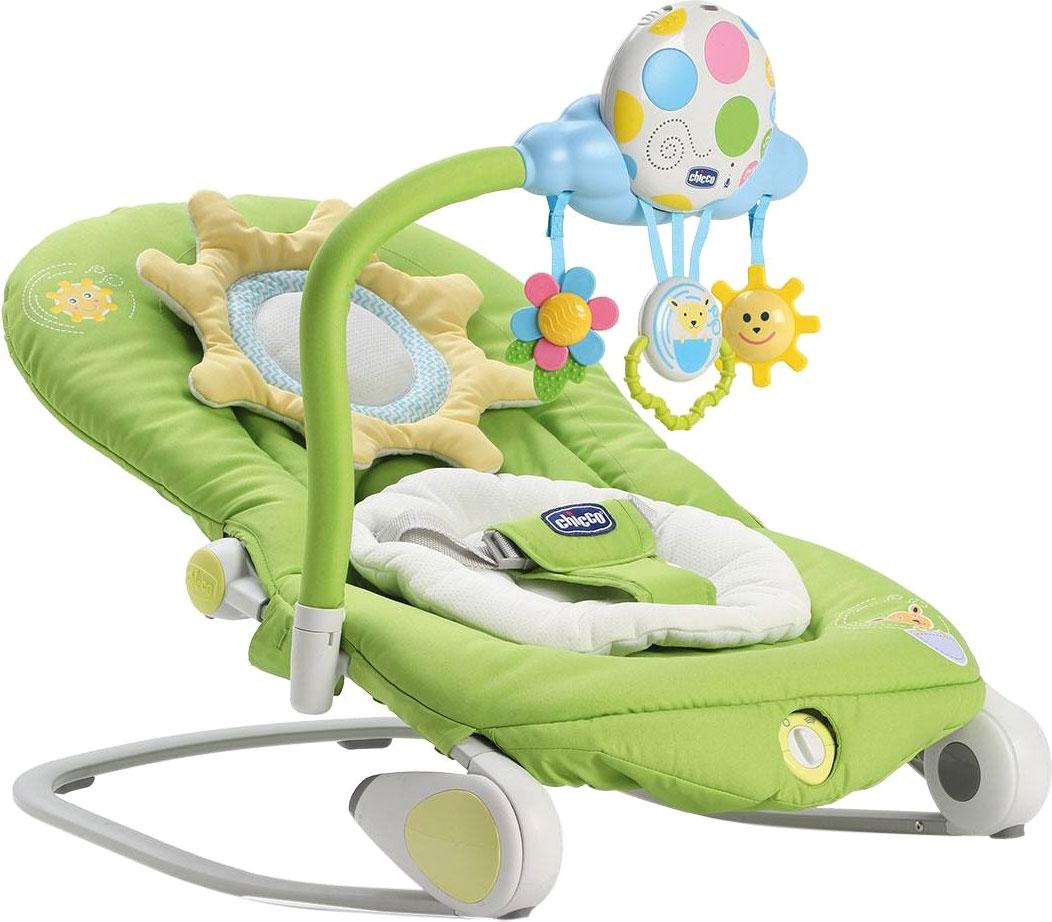 Шезлонг для новорожденных Chicco Balloon зеленый