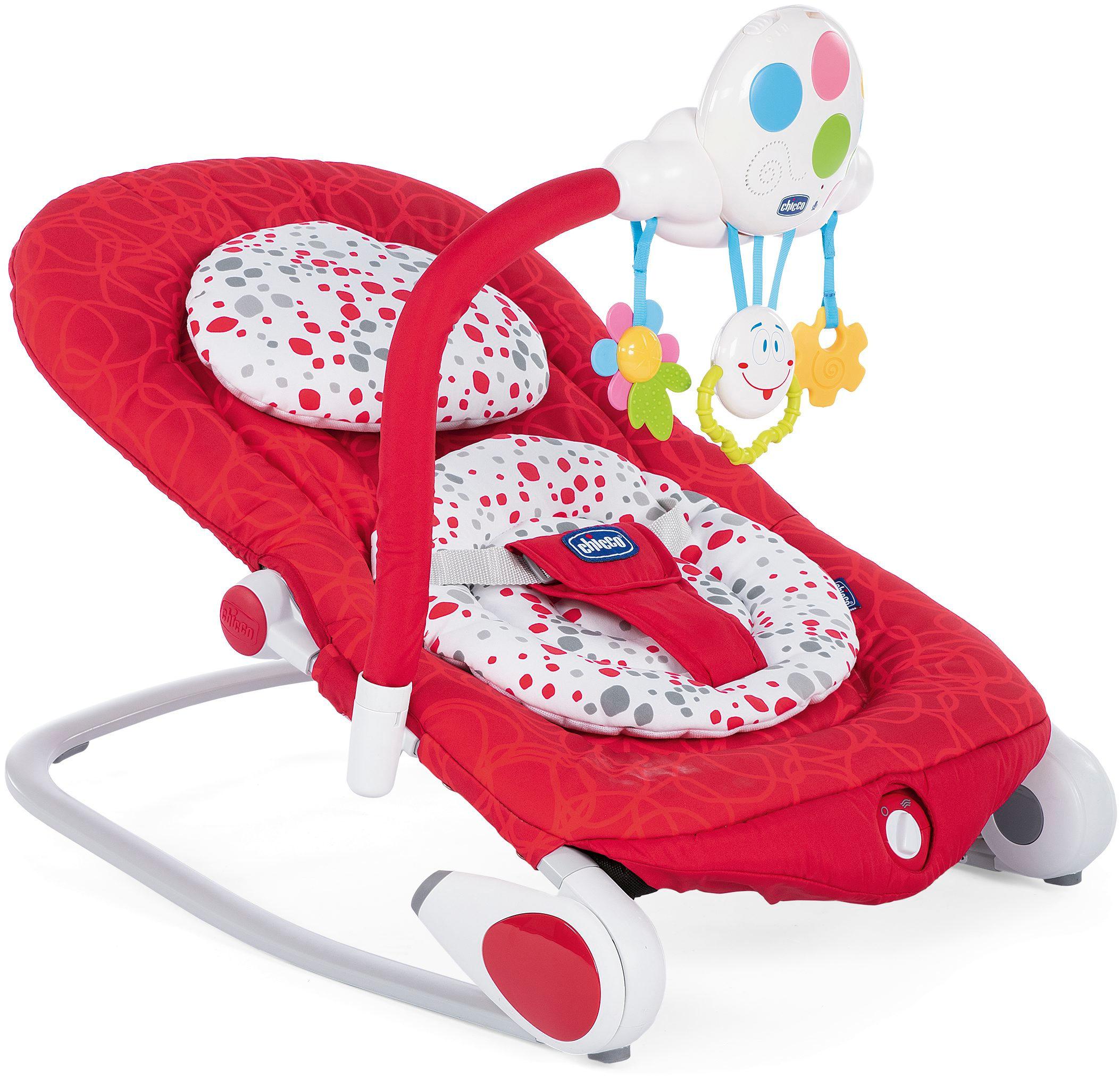 Шезлонг для новорожденных Chicco Balloon красный