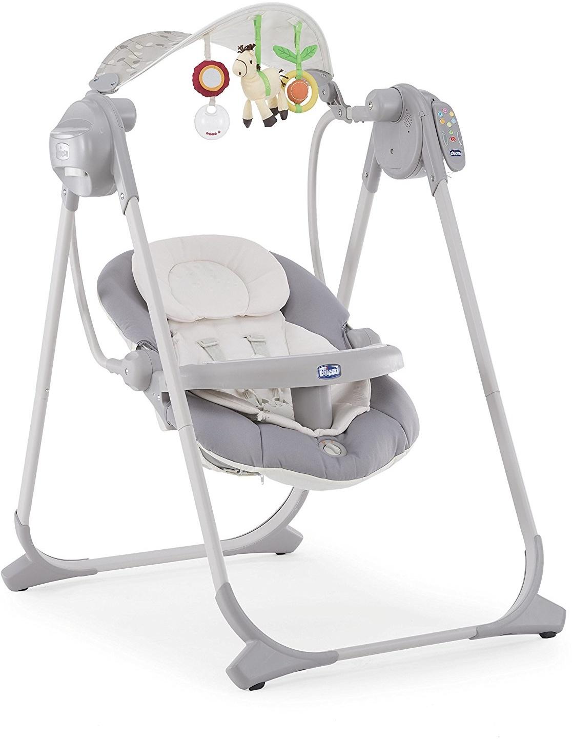 Качели для новорожденных Chicco Polly Swing Up серый качели chicco polly swing up paprika 7911071