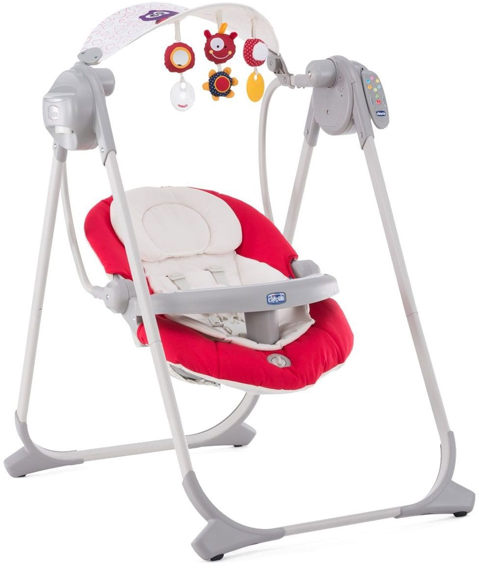 Качели для новорожденных Chicco Polly Swing Up красный качели chicco polly swing up paprika 7911071