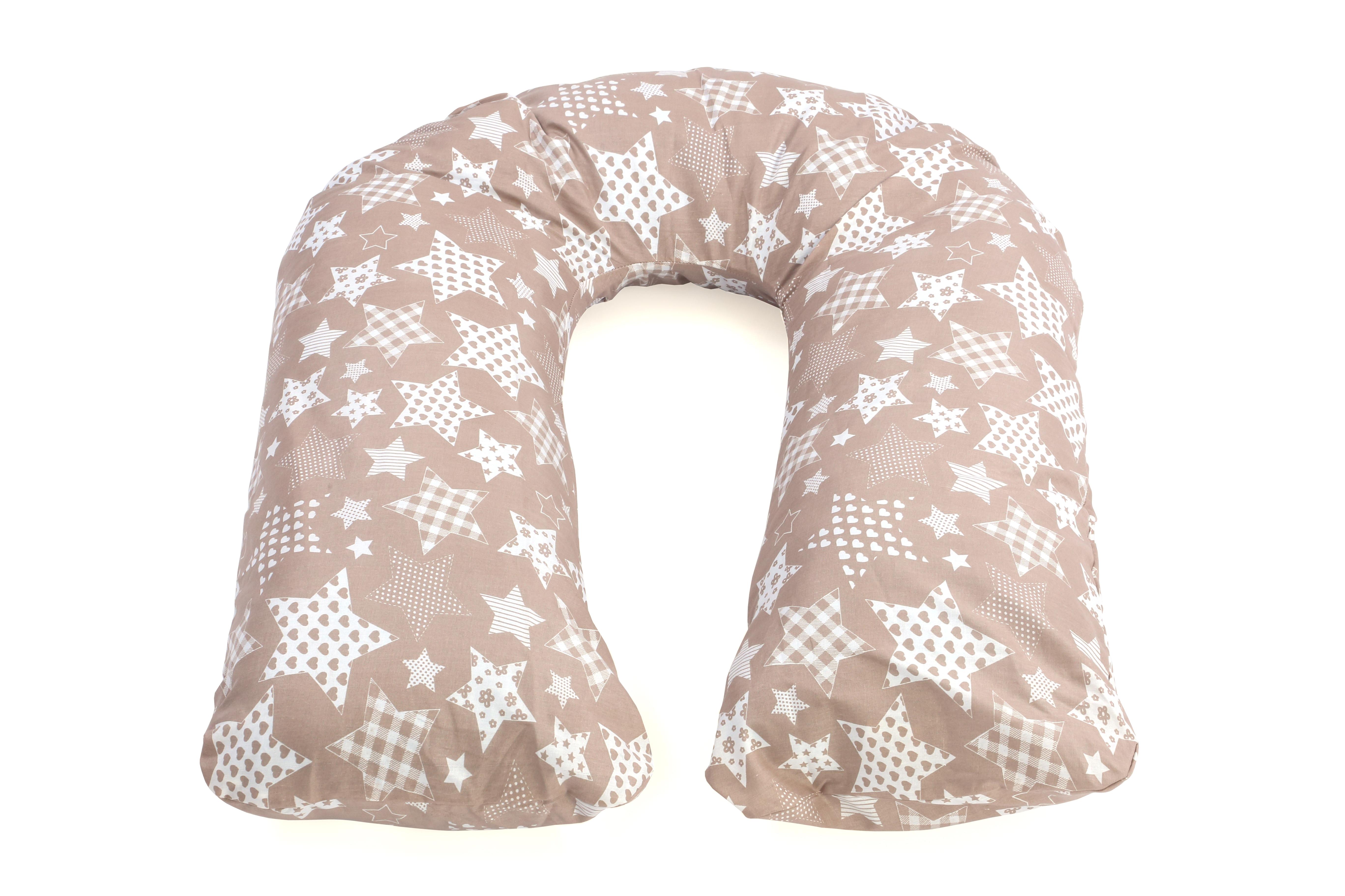 Подушка для беременных и кормления U280 Микс звёзды