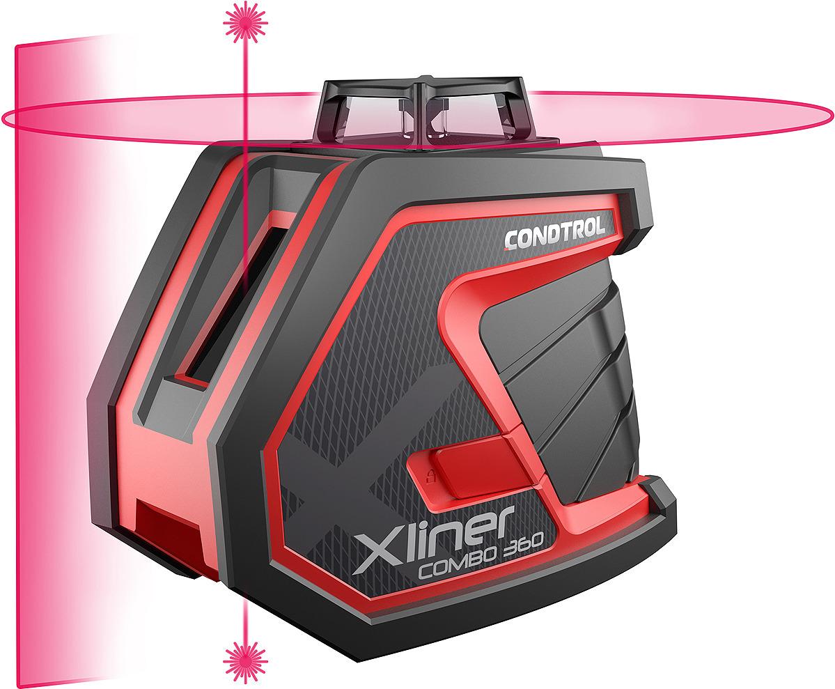 Лазерный нивелир Condtrol XLiner, дальность измерений 40/80 м, 1-2-119
