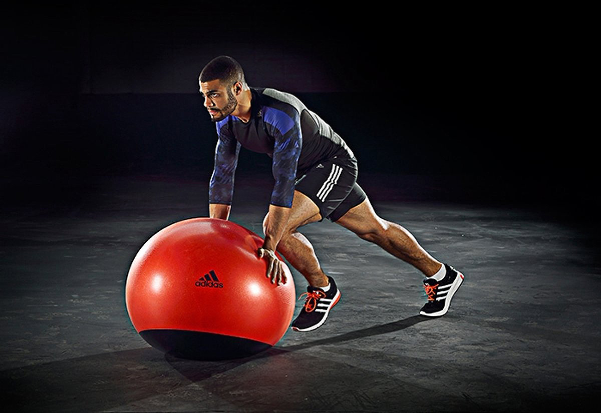 Мяч гимнастический Adidas StabGymball, BH0174, оранжевый, диаметр 65 см