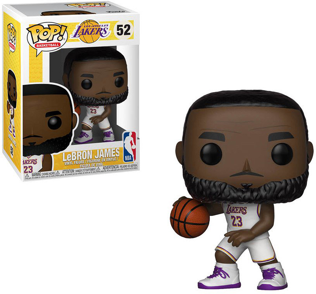Фигурка Funko POP! Vinyl: NBA: Lakers: Lebron James (White Uniform) 37271 funko pop vinyl фигурка james bond roger moore 24701