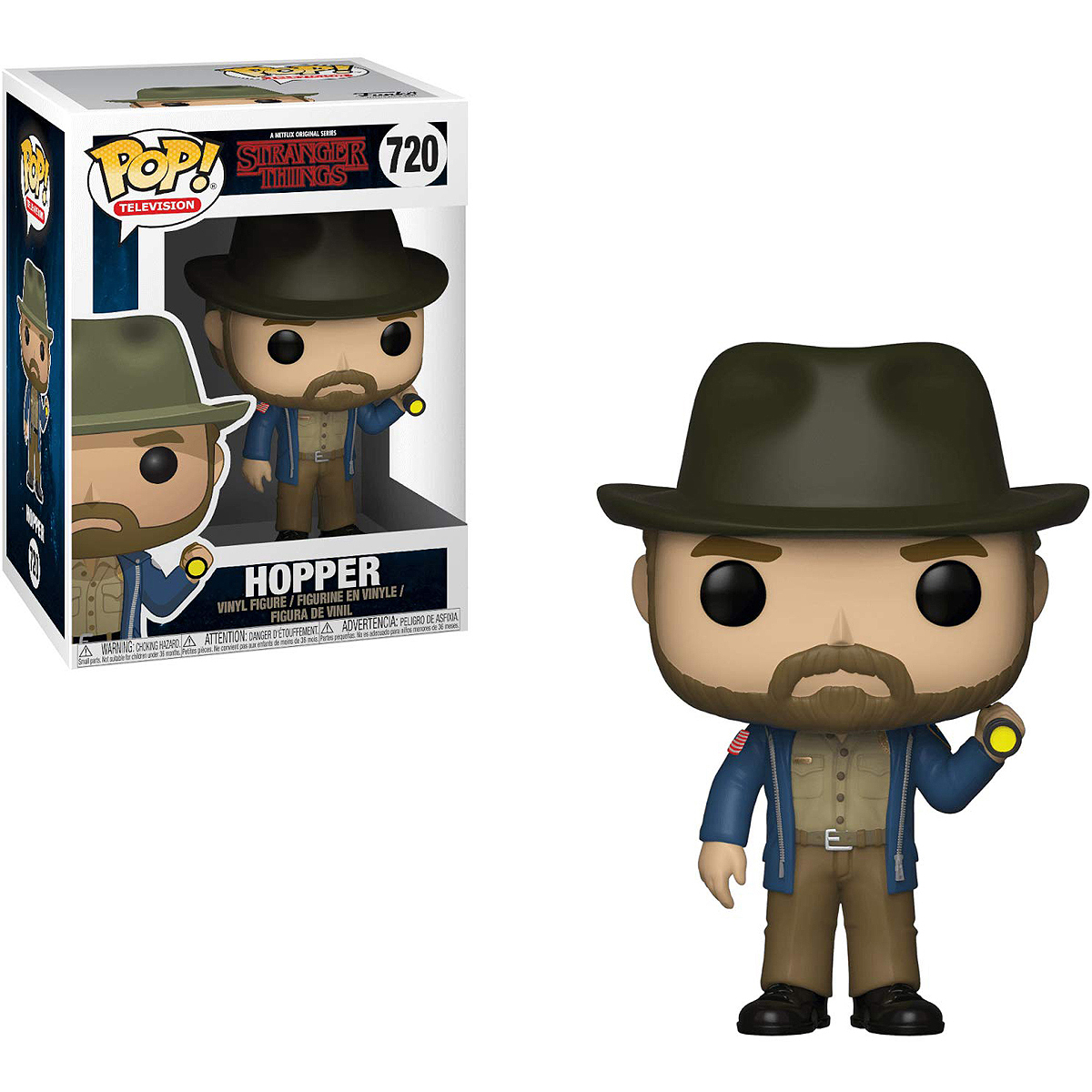 Фигурка Funko POP! Vinyl: Television: Stranger Things: Hopper w/Flashli 36039 фигурка funko pop vinyl stranger things mike at dance 35055