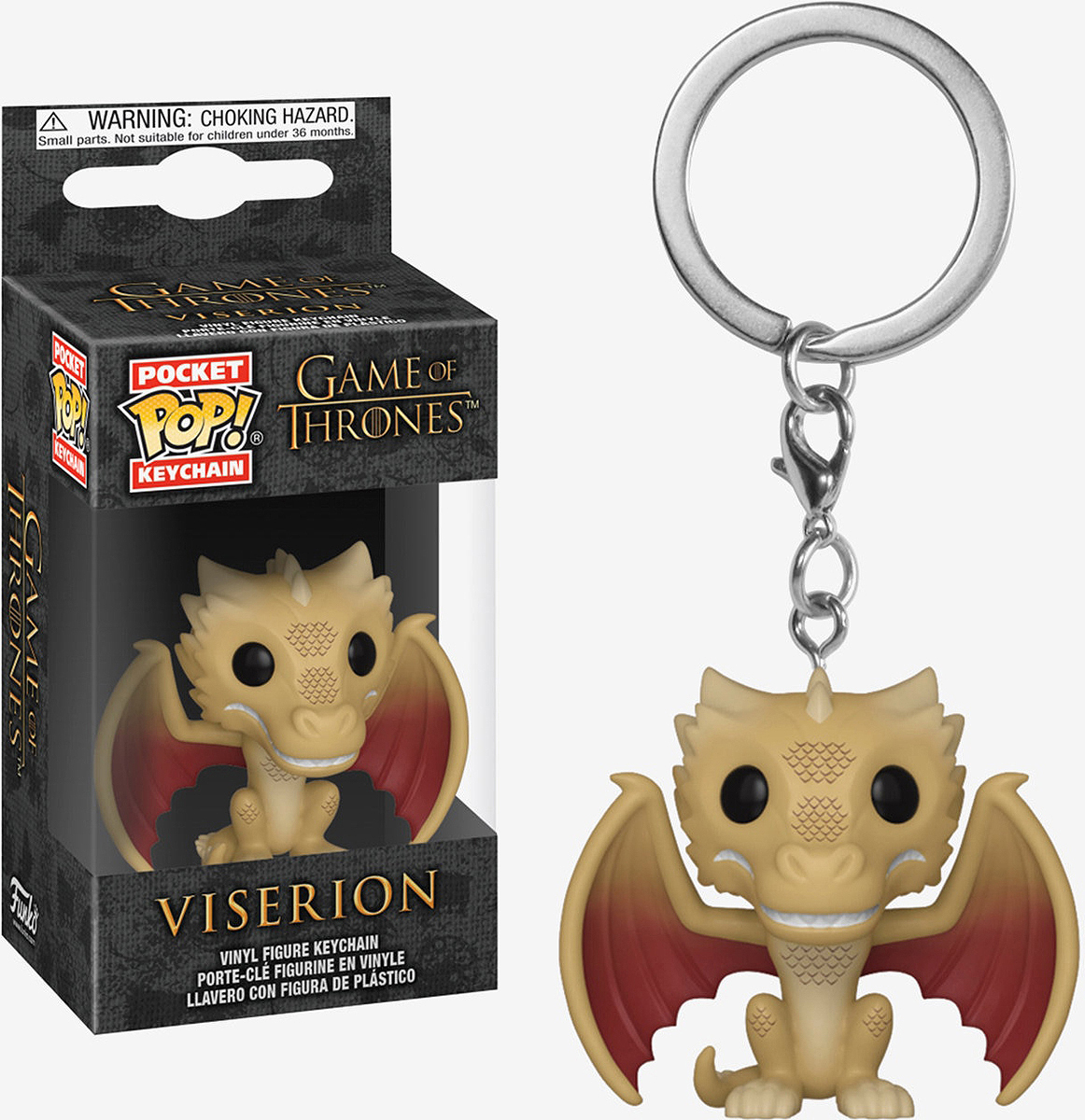 Брелок Funko Pocket POP! Keychain: Game of Thrones S10: Regular Viserion 37654-PDQ