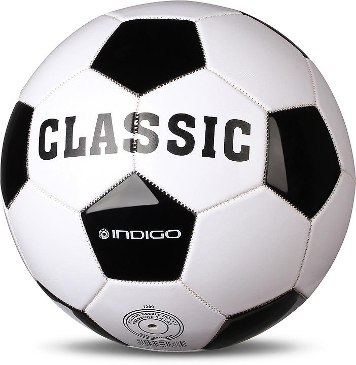Мяч футбольный Indigo Classic, 1149, белый, черный, размер 5 мяч футбольный indigo goal c02 белый синий желтый размер 5