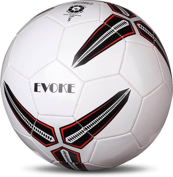 Мяч футбольный Indigo Evoke, 1133, белый, черный, размер 5 мяч футбольный indigo rain in031 белый синий желтый размер 3