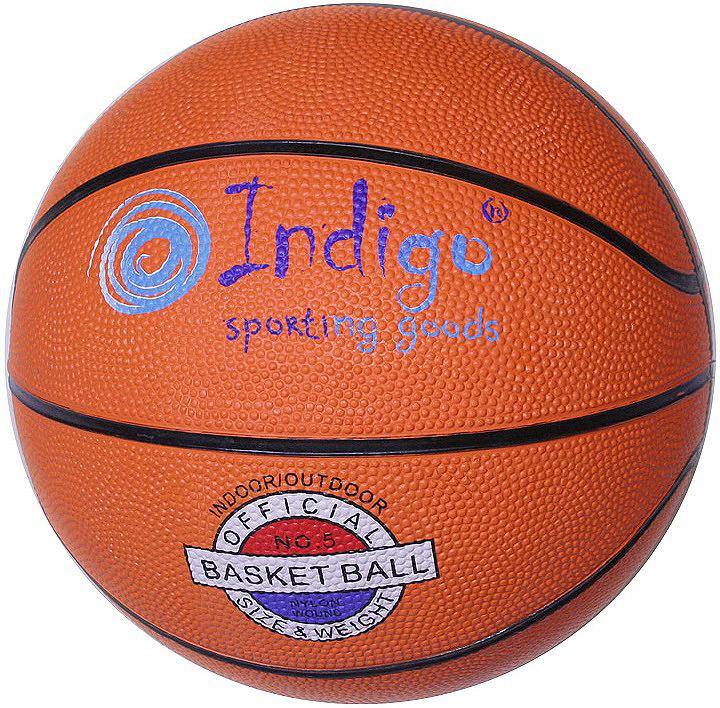 Мяч баскетбольный Indigo, 7300-7-TBR, оранжевый, размер 7 мяч баскетбольный atemi bb400 7