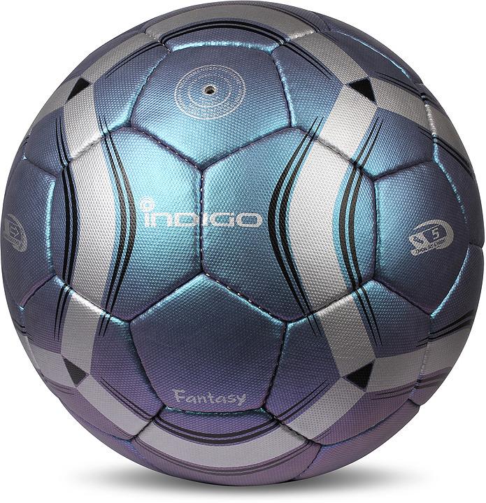 Мяч футбольный Indigo Fantasy, C03, синий, размер 5 мяч футбольный indigo rain in031 белый синий желтый размер 3