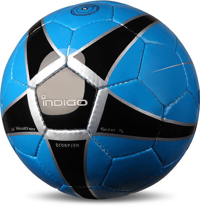 Мяч футбольный Indigo Scorpion, D04, синий, черный, размер 5 мяч футбольный torres vision resposta fifa quality pro размер 5