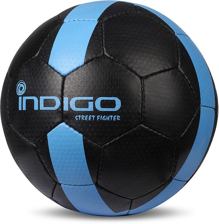 лучшая цена Мяч футбольный Indigo Street Fighter, E02, черный, размер 5