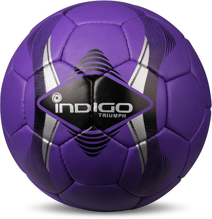 Мяч футбольный Indigo Triumph, C01, фиолетовый, размер 5