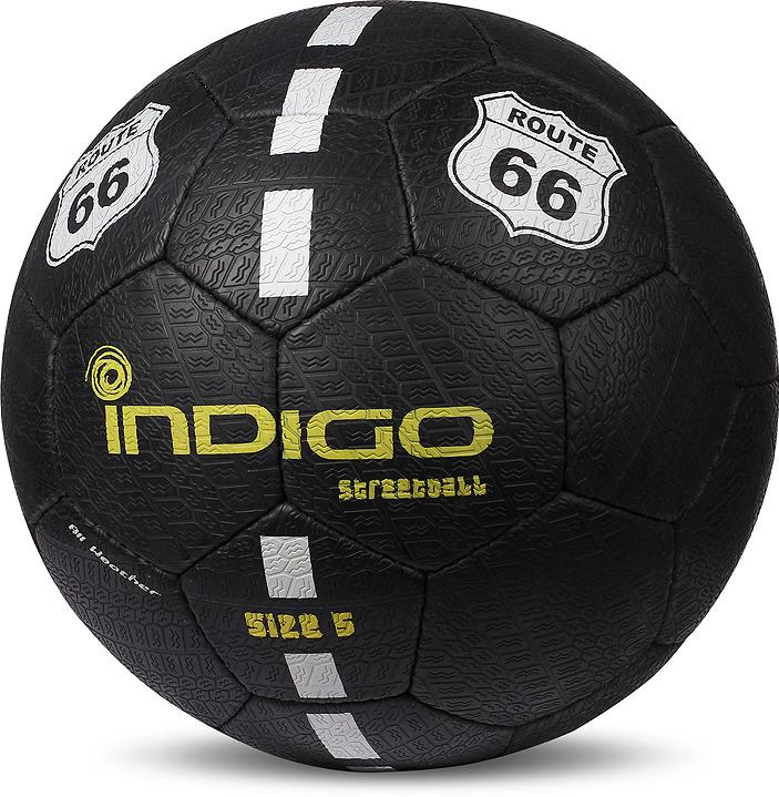 лучшая цена Мяч футбольный Indigo Street Ball, E03, черный, размер 5