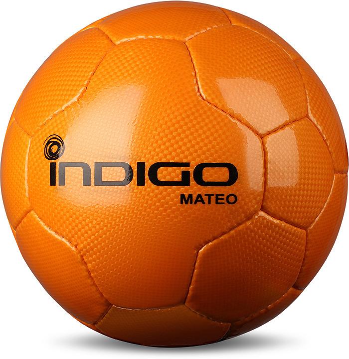 Мяч футбольный Indigo Mateo, N004, оранжевый, размер 5