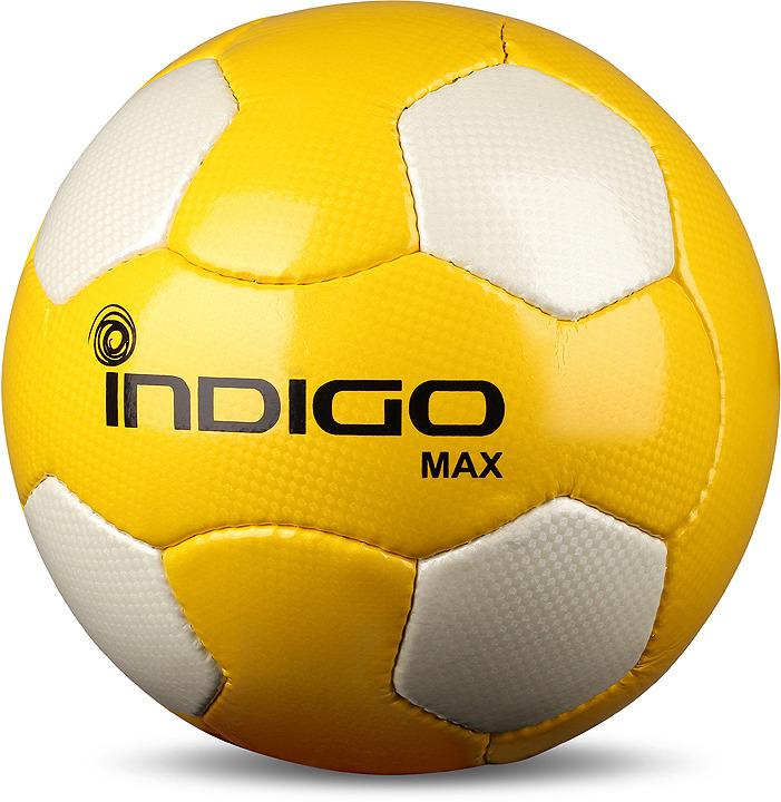 Мяч футбольный Indigo Max, N005, желтый, белый, размер 5
