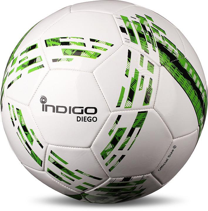 Мяч футбольный Indigo Diego, N001, белый, зеленый, размер 5 мяч футбольный torres vision resposta fifa quality pro размер 5