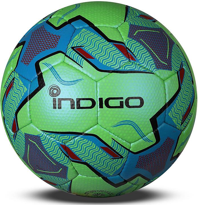 Мяч футбольный Indigo Poker, 1118-АВ, зеленый, размер 5