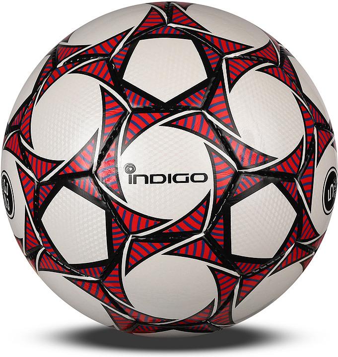 Мяч футбольный Indigo Coacher, 1911, белый, красный, размер 5