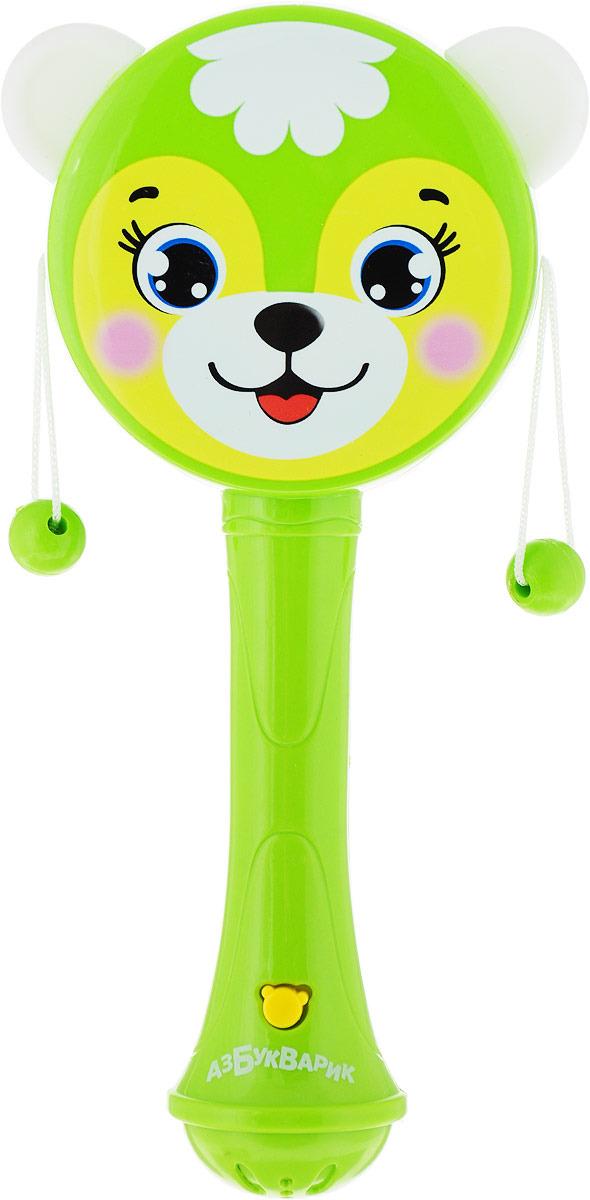 Электронная игрушка Азбукварик Музыкальная погремушка-барабанчик, цвет в ассортименте, 2241