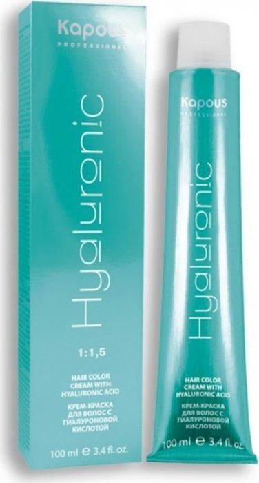 Крем-краска для волос Kapous Professional Hyaluronic Acid, оттенок 5.35 Светлый коричневый каштановый, 100 мл kapous studio professional крем краска для волос экстрактом женьшеня и рисовыми протеинами 4 0 коричневый 100 мл