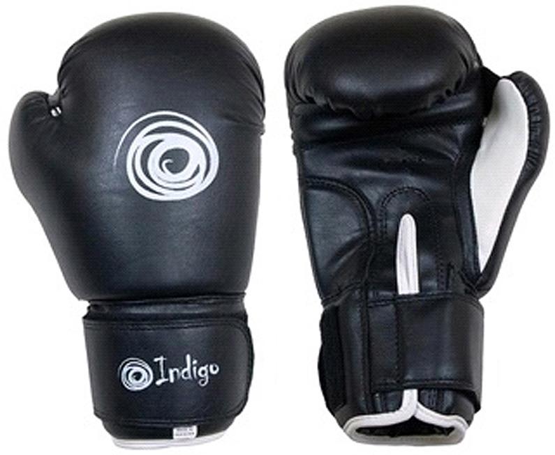 Боксерские перчатки Indigo, PS-790, черный, вес 6 унций