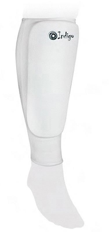 Защита голени Indigo, 1118, белый, размер XXL adidas защита голени pu shin guard