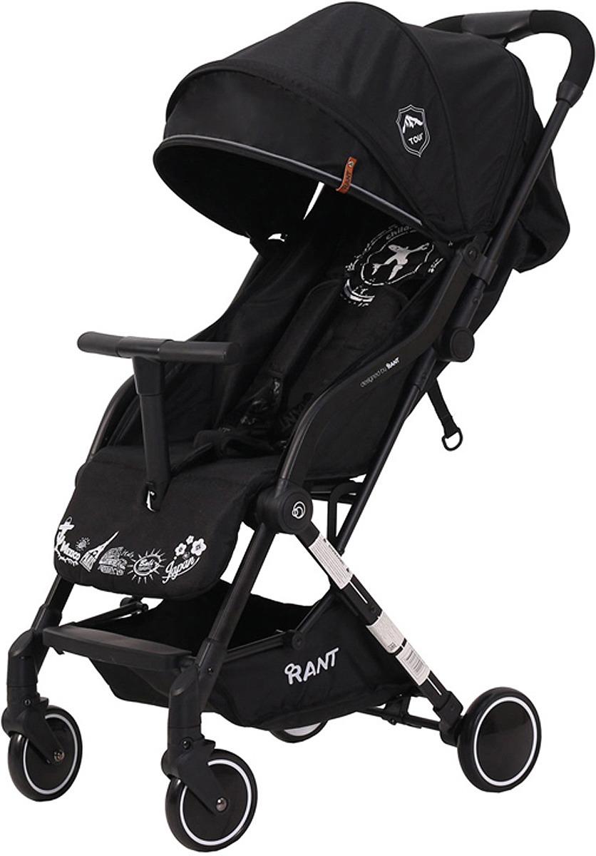 Коляска прогулочная Rant Tour RA830, black прогулочная коляска rant voyage jeans blue