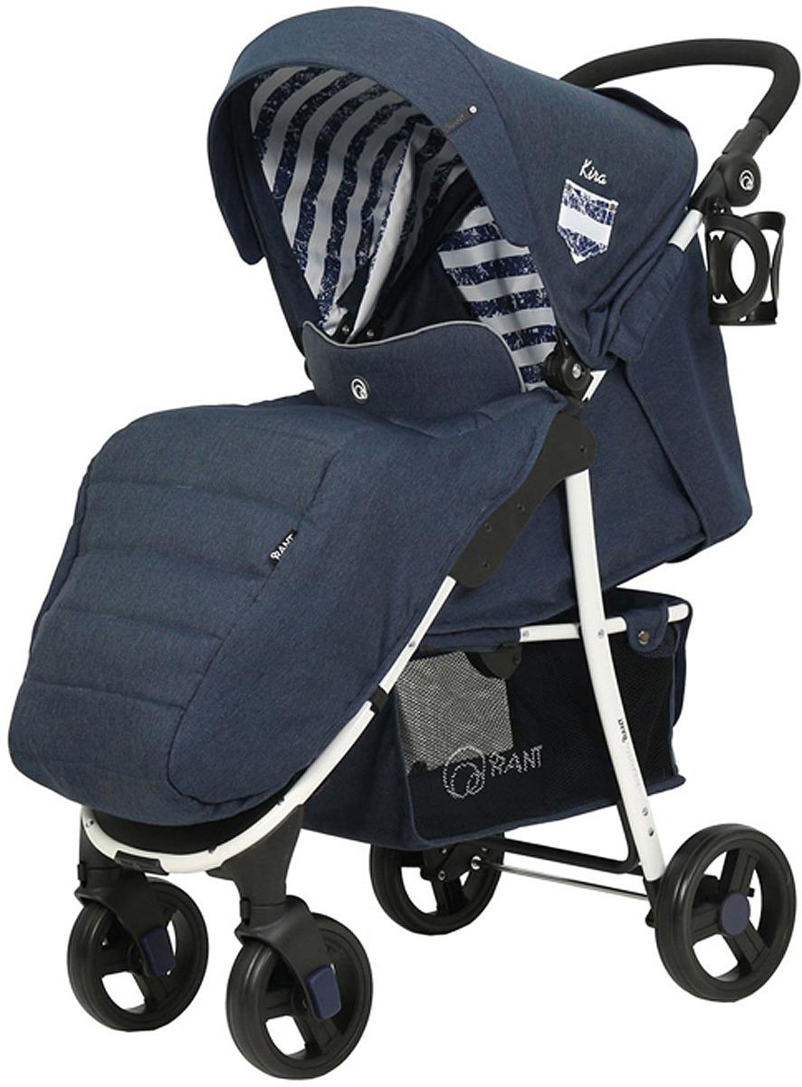 Коляска прогулочная Rant Trends Kira Trends Lines RA055, blue прогулочная коляска rant voyage jeans blue