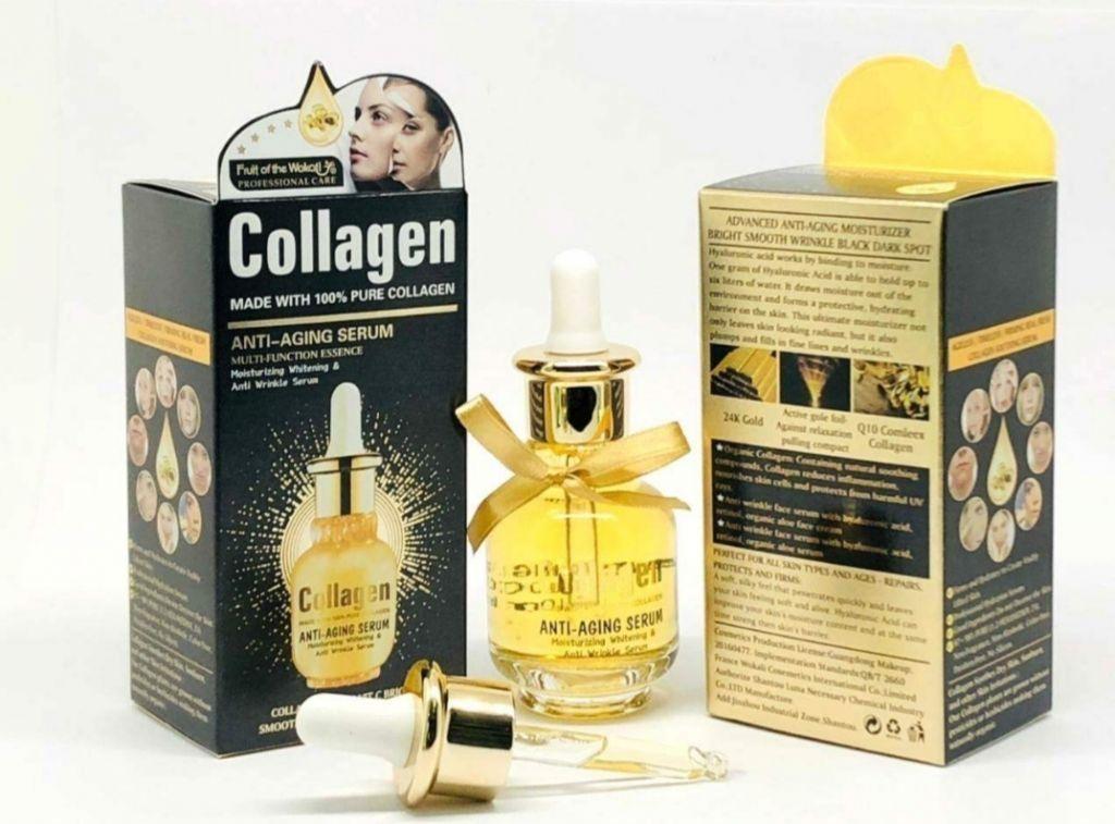 Сыворотка для лица Wokali Антивозрастная коллагеновая сыворотка Collagen Anti-Aging Serum