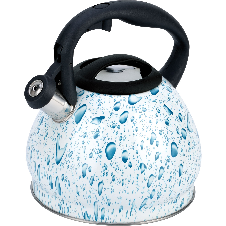 Чайник мет. со свистком BH - 9905 BLUE /3,0л/ (х12) чайник со свистком bayerhoff bh 425