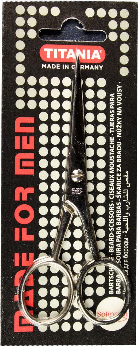 Ножницы для бороды Titania, 1050/9MEN, серый металлик Titania
