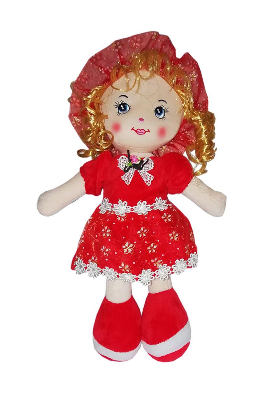 """Мягкая кукла TashaToys Кукла мягкая """"Кудряшка"""" (10х25х6 см) красный"""