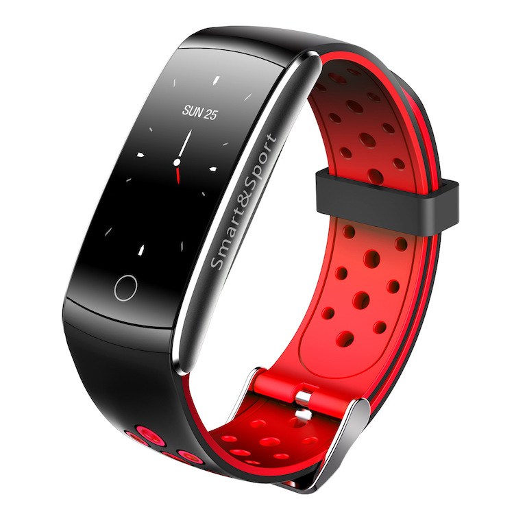умный фитнес браслет zodikam tw64 2558 зеленый Фитнес-браслет ZDK Q8S, красный