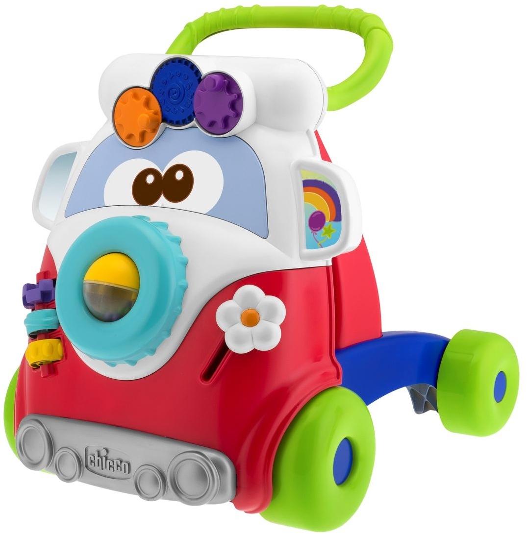 Игрушка-каталка Chicco Забавный автобус chicco игровой центр каталка baby walker 2 в 1 chicco